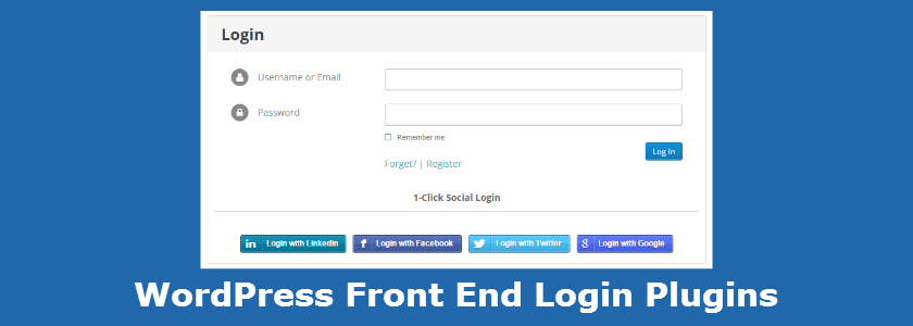 WordPress Front End Login Plugins