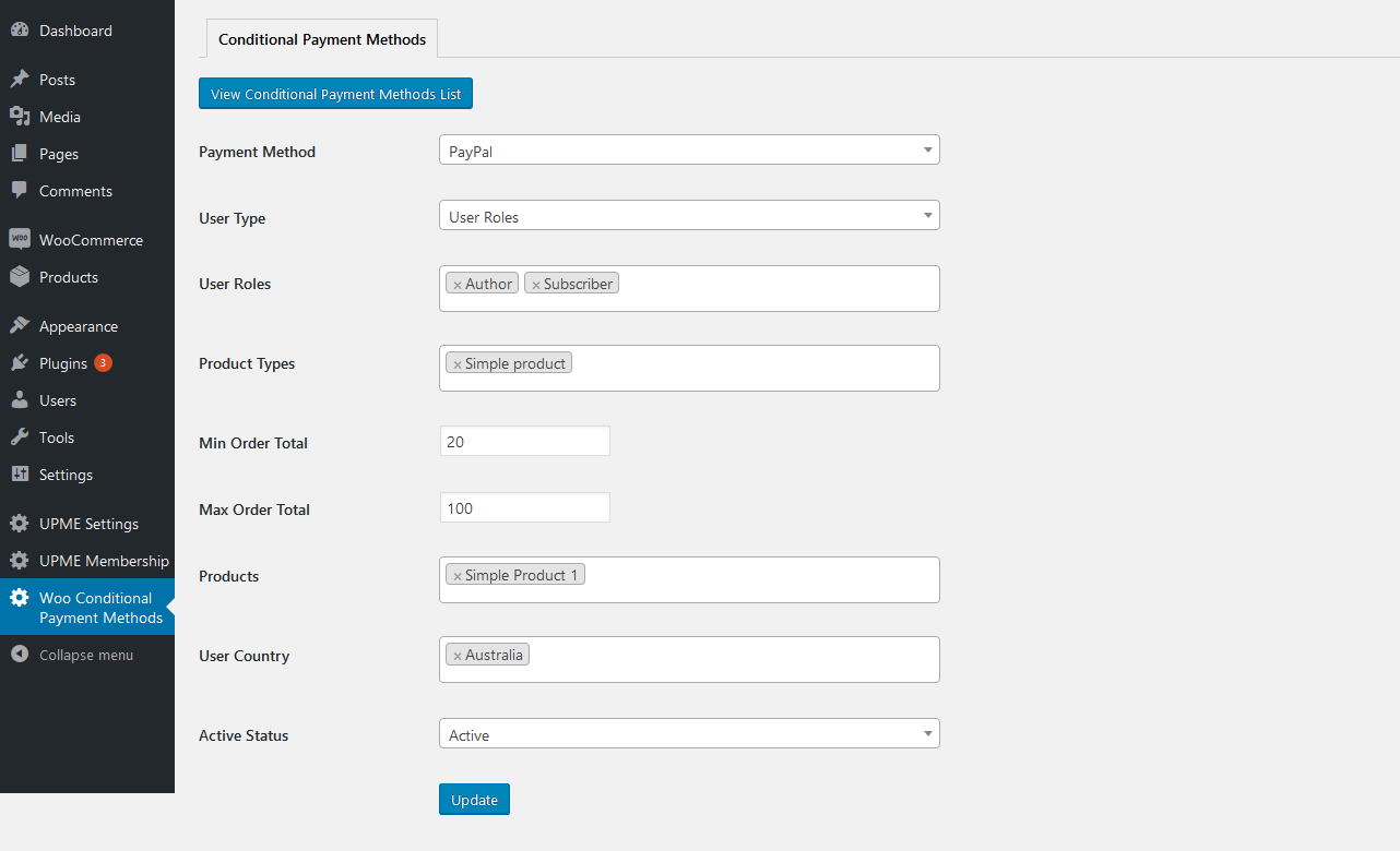 Conditional Payment Methods PRO for WooCommerce 36